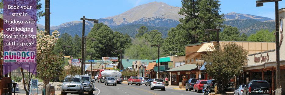 Midtown Ruidoso with Mountain in the background