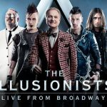 posed photo of illusionists showmen with title across bottom
